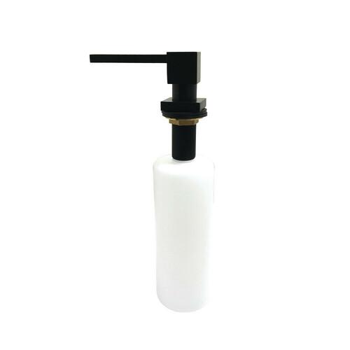 Kingston Brass SD8410 Soap Dispenser With Straight Nozzle 17 oz, Matte Black