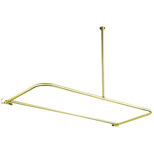 Kingston Brass CC3132 D-Type Shower Rod, Polished Brass