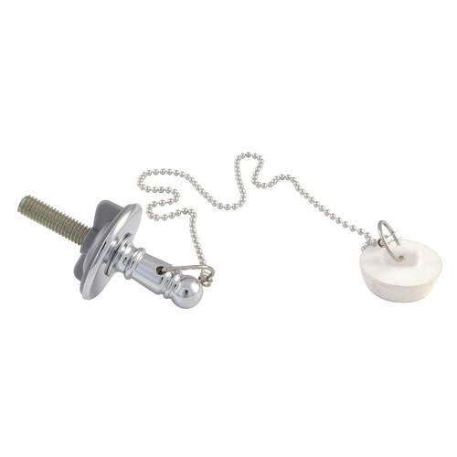 Kingston Brass CC1111 Rubber Stopper Chain and Attachment for CC1001, Polished Chrome