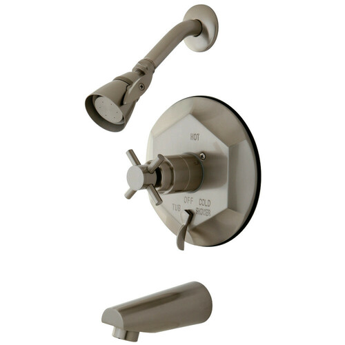 Kingston Brass KB46380DX Concord Tub & Shower Faucet, Brushed Nickel