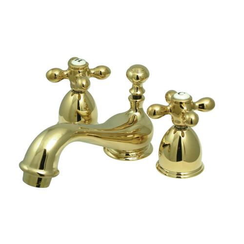 Kingston Brass CC27L2 Mini-Widespread Bathroom Faucet, Polished Brass