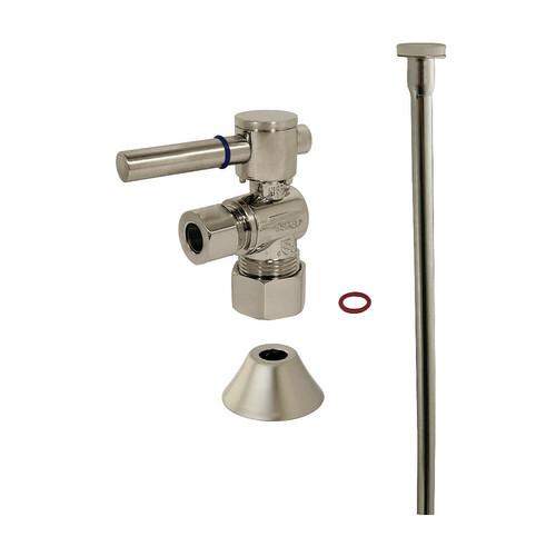 Kingston Brass CC53308DLTKF20 Modern Plumbing Toilet Trim Kit, Brushed Nickel