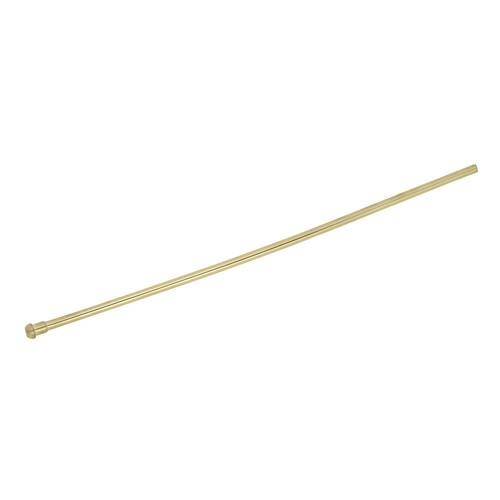 Kingston Brass CB38207 Complement 20 in. Bullnose Bathroom Supply Line, Brushed Brass