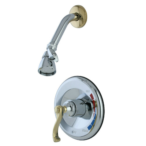 Kingston Brass KB8634FLSO Shower Only Faucet, Polished Chrome/Polished Brass