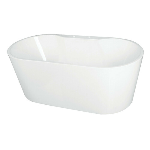 Kingston Brass VT7DE673223 66.5-Inch Acrylic Freestanding Tub with Deck for Faucet Installation, White