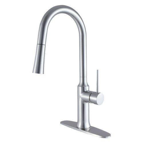 Kingston Brass LS2728NYL Single-Handle Pull-Down Kitchen Faucet, Brushed Nickel