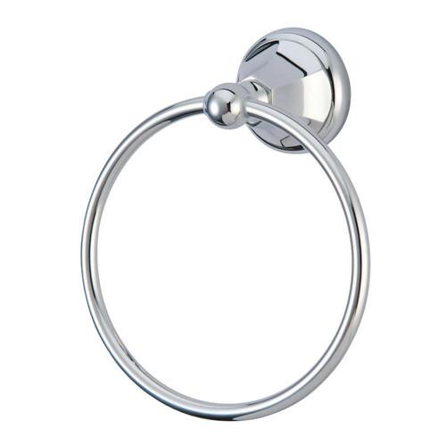 Kingston Brass BA4814C Metropolitan 6-Inch Towel Ring, Polished Chrome