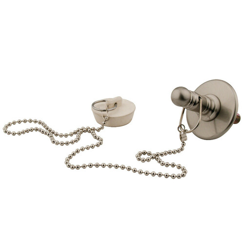 Kingston Brass CC1118 Rubber Stopper Chain and Attachment for CC1008, Brushed Nickel