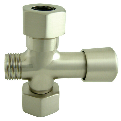 Kingston Brass ABT1060-8 Vintage Shower Diverter, Brushed Nickel