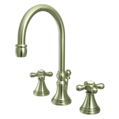 Kingston Brass KS2988AX 8 in. Widespread Bathroom Faucet, Brushed Nickel