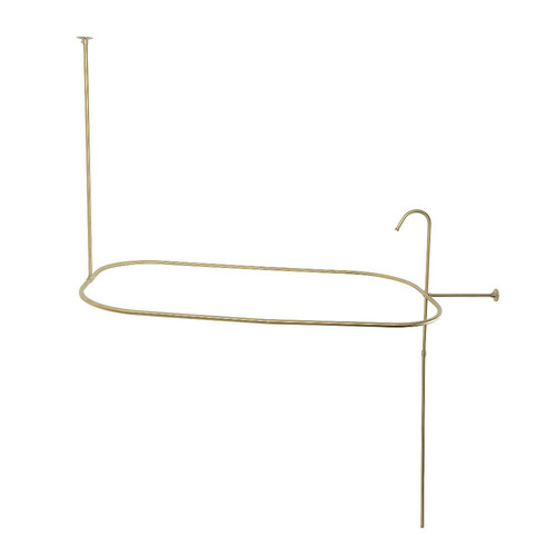 Kingston Brass ABT1040-7 Oval Shower Riser with Enclosure, Brushed Brass