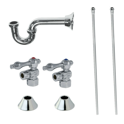 Kingston Brass CC43101LKB30 Traditional Plumbing Sink Trim Kit with P-Trap, Polished Chrome