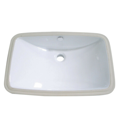Kingston Brass LB24157 Forum Undermount Bathroom Sink, White