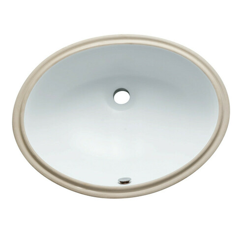 Kingston Brass LBO22178 Courtyard Oval Undermount Bathroom Sink, White