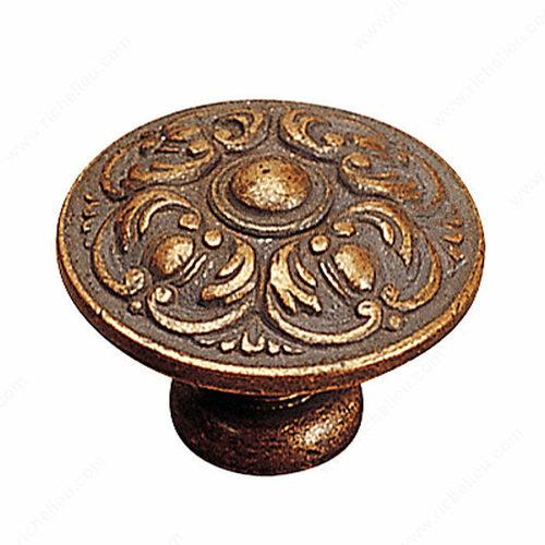 Richelieu 13220193 Traditional Brass Knob - 1323