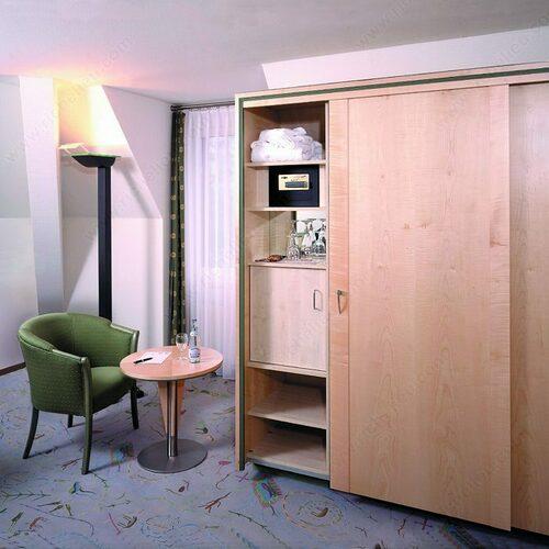 Richelieu WEBKIT1242948 HAWA-Dorado 40/IS Concealed Hardware Sliding System for Large Cabinet Doors