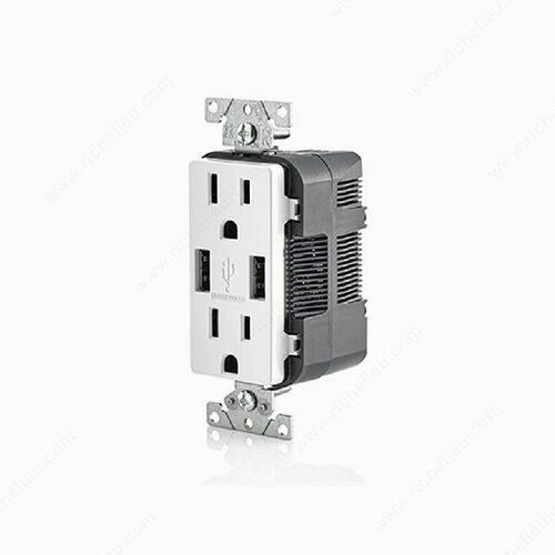 Richelieu 5632030 Double Outlet and USB Charger