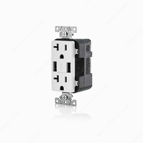 Richelieu 5832030 Double Outlet and USB Charger