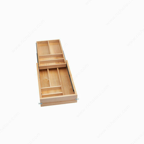 Richelieu 4WTCD343FL1 Tiered Drawers for Frameless Cabinets