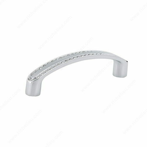 Richelieu BP272709614001 Contemporary Crystal and Metal Pull - 2727