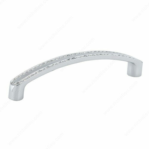 Richelieu BP272712814001 Contemporary Crystal and Metal Pull - 2727