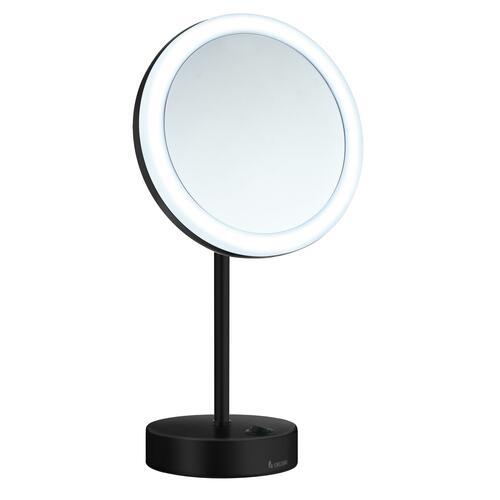 Smedbo FK484EBP 5X Shaving/Make Up Mirror with Warm/Cool Led Light, Black