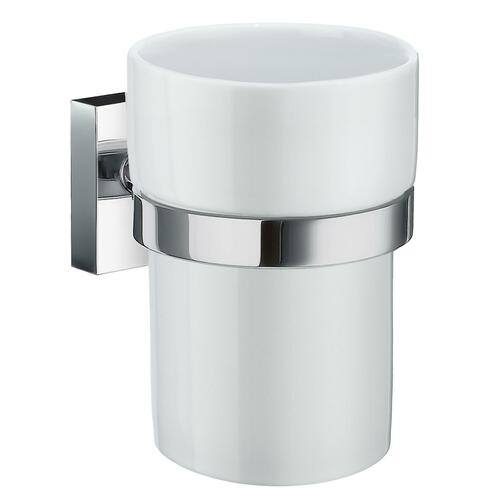 Smedbo RK343P White Porcelain Tumbler, Polished Chrome