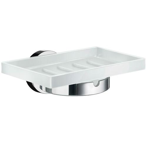 Smedbo HK342P White Porcelain Soap Dish, Polished Chrome