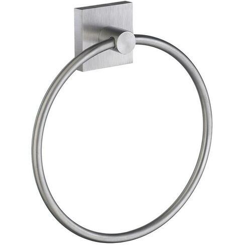 Smedbo RS344 Towel Ring, Brushed Chrome