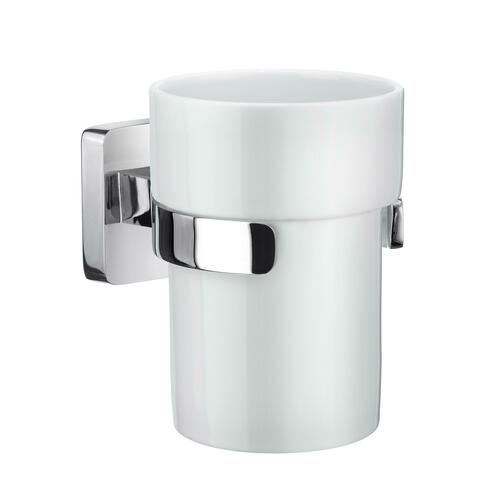Smedbo OK343P Holder with Tumbler, Polished Chrome