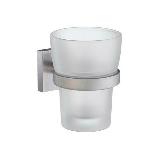 Smedbo RS343 Tumbler Frostedd Glass, Brushed Chrome