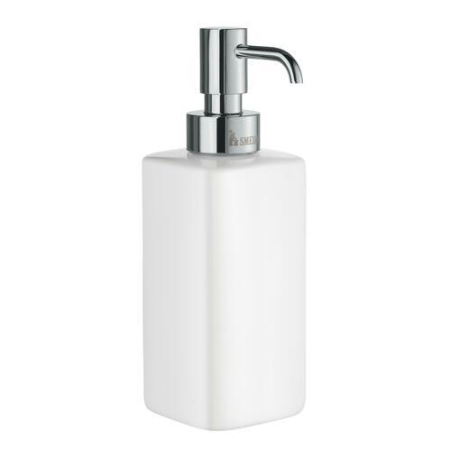 Smedbo OK470P Freestanding Soap Dispenser, Chrome/Porcelain