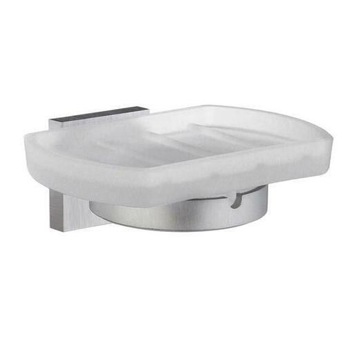 Smedbo RS342 Soap Dish Frostedd Glass, Brushed Chrome