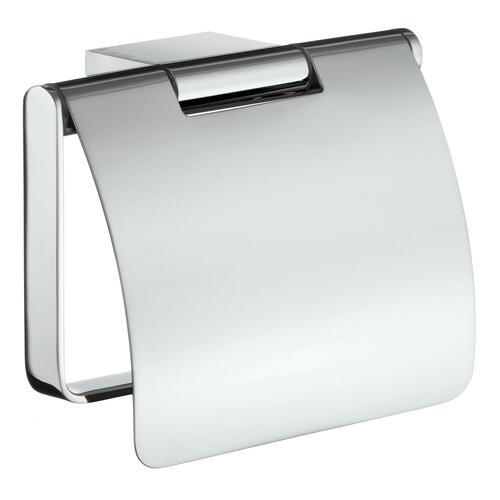 Smedbo AK3414 Toilet Roll Holder with Cover, Polished Chrome