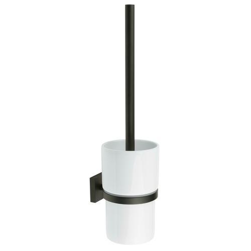Smedbo RB333P Toilet Brush, White Porcelain/Black