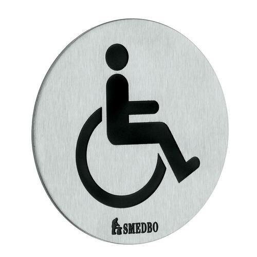 Smedbo FS959 Restroom Sign: Handicapped, Brushed