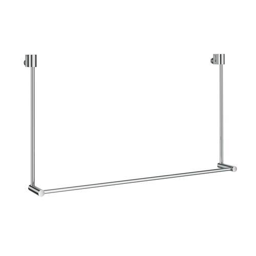Smedbo DK3101 Towel Rack for Glass Shower Panel, Polished Chrome