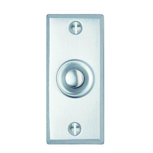 Smedbo B111KM Door Bell, Brushed Chrome