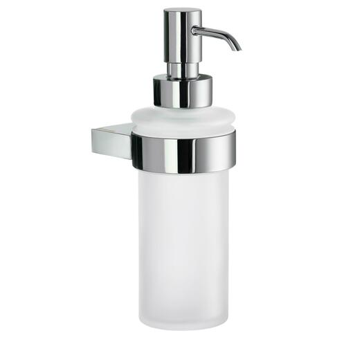 Smedbo AK369 Holder with Glass Soap Dispenser, Polished Chrome