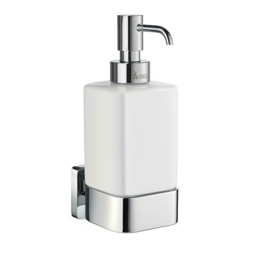 Smedbo OK469P Wall Mount Soap Dispenser, Chrome/Porcelain