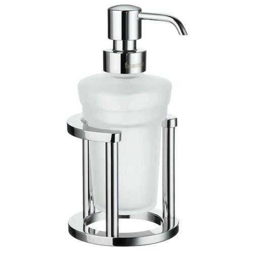 Smedbo FK201 Holder with Glass Soap Dispenser, Polished Chrome