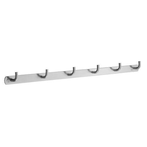 Smedbo B1055 6 Hooks Coat Rack, Brushed Stainless Steel