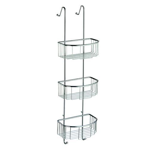 Smedbo DK1046 Triple Shower Basket, Polished Chrome