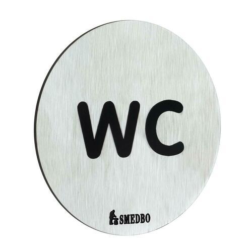Smedbo FS958 Restroom Sign: WC