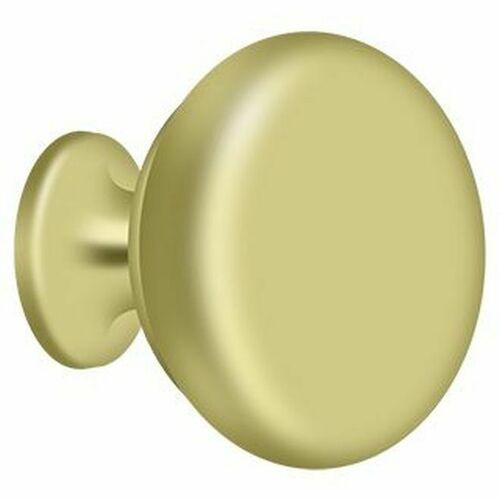 Deltana KR114U3 Knob Round Solid, Polished Brass